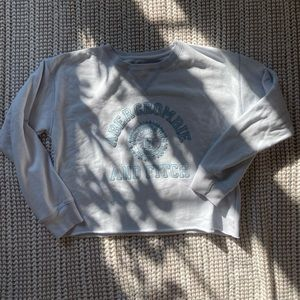 Abercrombie and Fitch Cropped Baby Blue Sweatshirt
